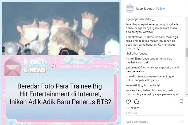 Para Trainee Big Hit Entertainment Sudah di Persiapkan