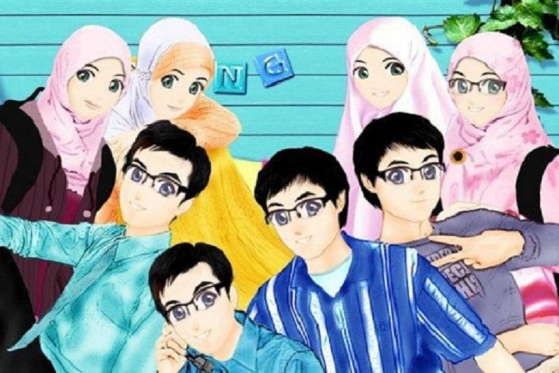 Gambar Kartun Wanita Pria Muslim Wallpaper Gambar Kartun Lelaki Dan Perempuan Muslimah