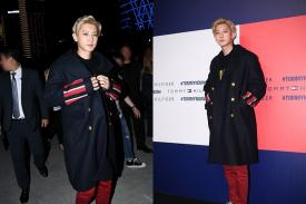 Chanyeol EXO sebagai Best Dressed Man diacara Fashion Show Tommy Hilfiger
