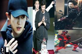 Si Happy Virus Chanyeol EXO Birthday, Tampil dengan Baju Deadpool,